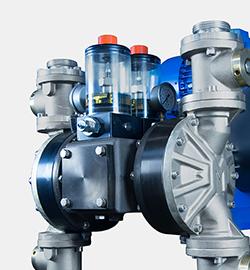 Double membrane double effect pumps